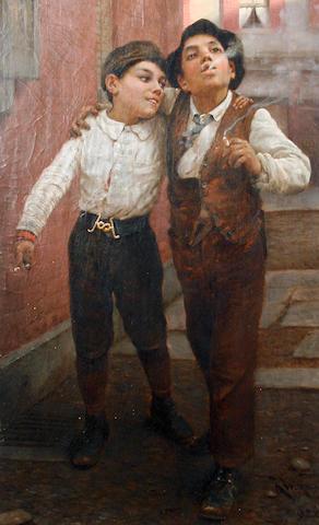 Karl Witkowski (American, 1860-1910) First cigarettes