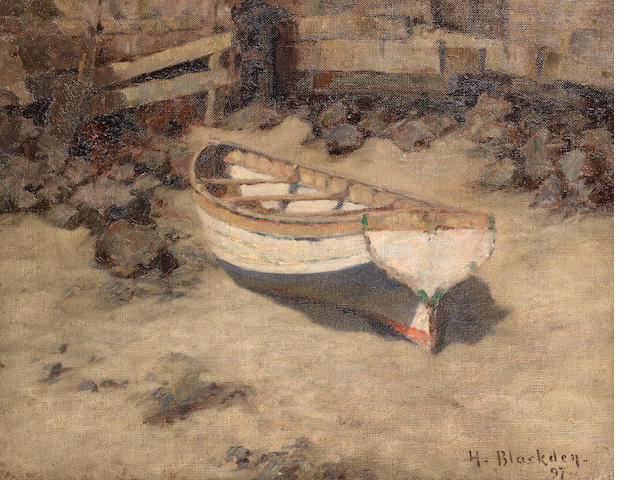 Hugh C. Blackden (British) Low tide unframed ??????????????