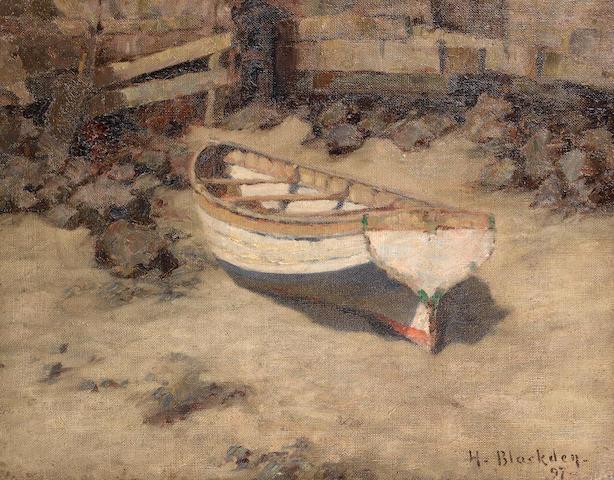 Hugh C. Blackden (British) Low tide unframed ??????????????