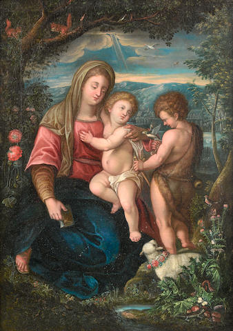 Flemish School, around 1700  The Madonna and Child with the infant Saint John