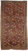 A Beshir long rug East Turkestan, 11 ft 2 in x 6 ft 3 in (340 x 190 cm) some wear