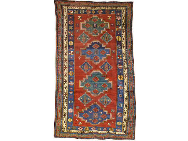 A Fachralo Kazak rug Central Caucasus, 11 ft 11 in x 7 ft 3 in (363 x 220 cm) some minor wear