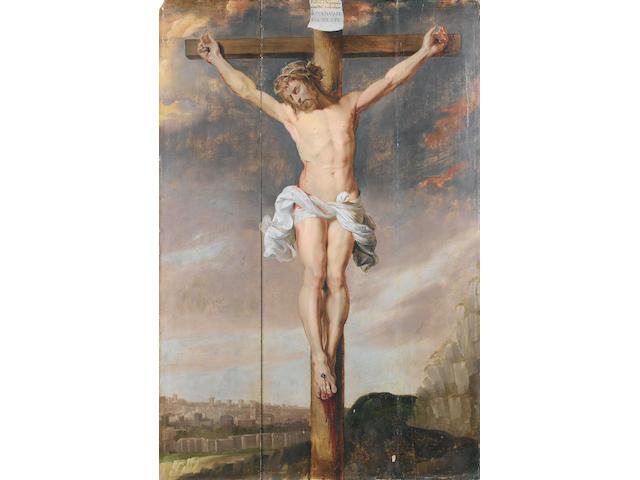 Circle of Sir Peter Paul Rubens (Siegen 1577-1640 Antwerp) The Crucifixion unframed