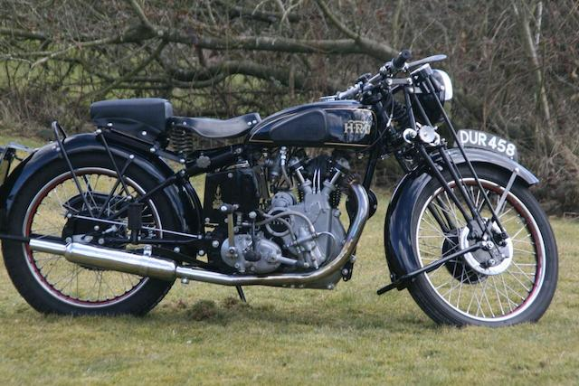 1938 Vincent-HRD 500cc Series-A Meteor   Frame no. 1510 Engine no. M616