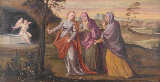 Studio of Antonio Negretti, called Antonio Palma (Serina circa 1510-circa 1575 Venice) The Three Marys at the Sepulchre