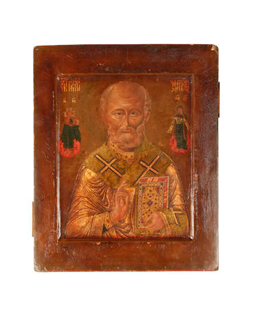 An icon of Saint NicholasRussian, 18th century