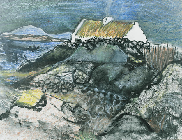 Gerard Dillon (Irish, 1916-1971) Inishlacken 30 x 39 cm. (11 3/4 x 15 1/2 in.)