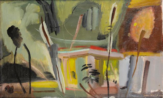 Ivon Hitchens (British, 1893-1979) Pavilion 51 x 84 cm. (20 x 33 in.)