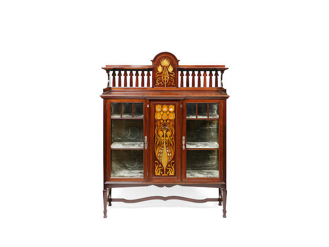 Shapland and Petter, Barnstaple An Art Nouveau mahogany display cabinet
