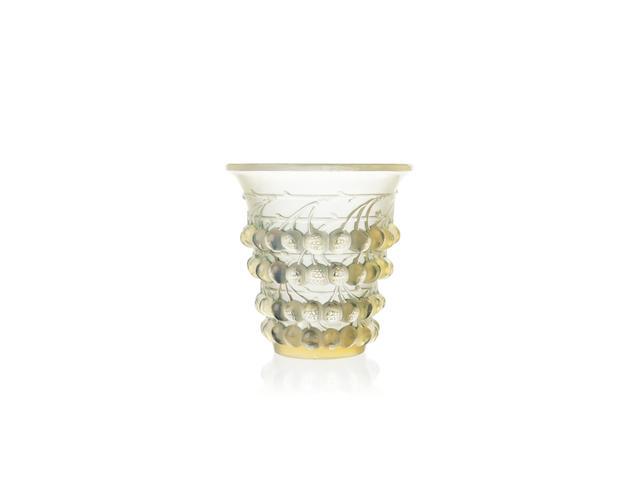 René Lalique 'Montmorency' An opalescent glass vase, design 1930