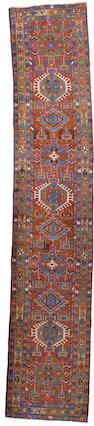 A Karaja runner North West Persia, 14 ft 3 in x 2 ft 10 in (434 x 84 cm)