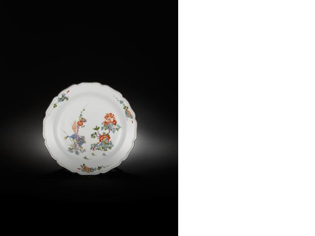 A rare Meissen plate circa 1735