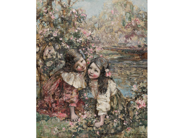 Edward Atkinson Hornel (British, 1864-1933) Blossom Time