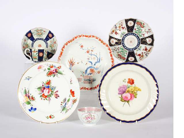 A group of English porcelain JS CHECK Late 18th and early 19th Century.