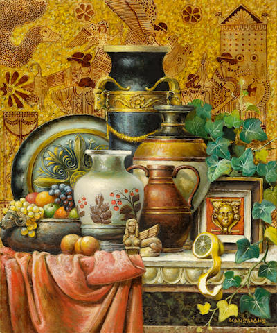 Theodoros Manolidis (Greek, born 1940) Still life 55 x 45 cm.