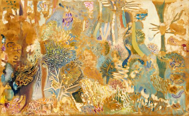 Nikos Hadjikyriakos-Ghika (Greek, 1906-1994) Forest 48 x 76.5 cm.