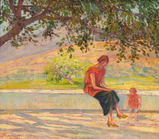 Vassilis Magiassis (Greek, 1880-1926) Woman with child 57 x 66 cm.