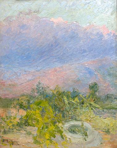 Constantinos Maleas (Greek, 1879-1928) Landscape 40 x 32 cm.