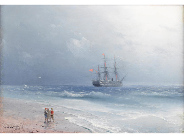 Ivan Konstantinovich Aivazovsky (Russian, 1817-1900) Coastal scene