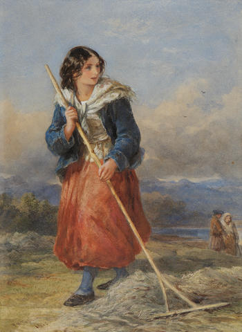 Francis William Topham (British, 1808-1877) Raking