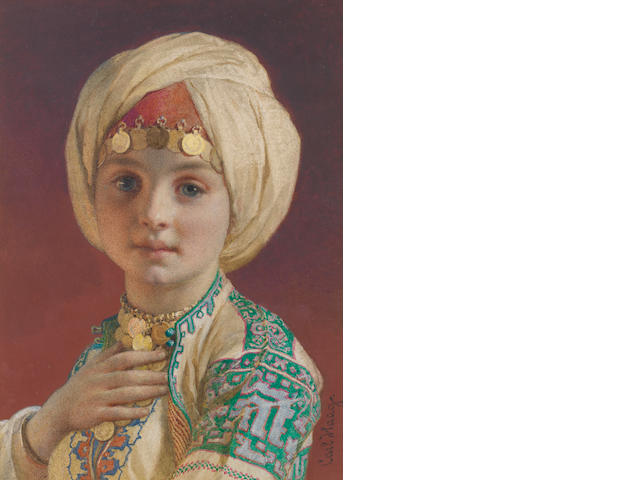 Carl Haag, O.W.S. (German, 1820-1915) Arab boy