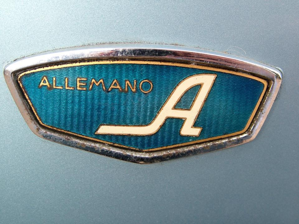 1956 Abarth 750 Allemano Spyder  Chassis no. 640586 Engine no. 699300