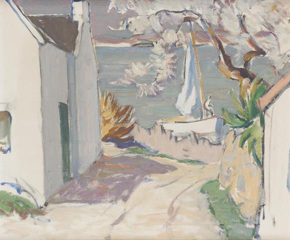 John MacLauchlan Milne, RSA (British, 1886-1957) Springwell Cottage, Corrie, Arran
