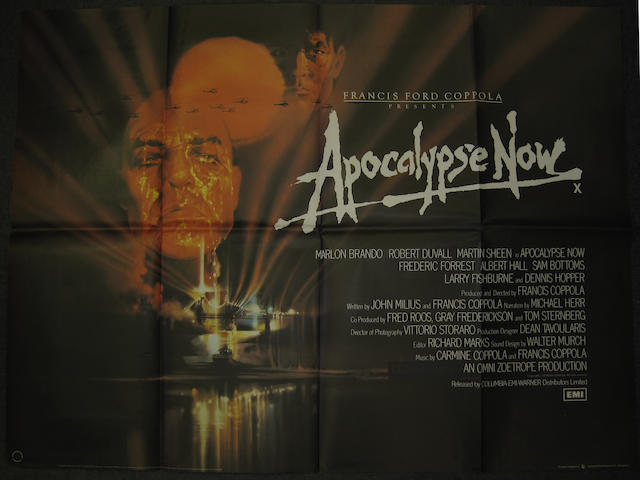 Apocalypse Now and The Deer Hunter U.K. Quad posters, comprising;