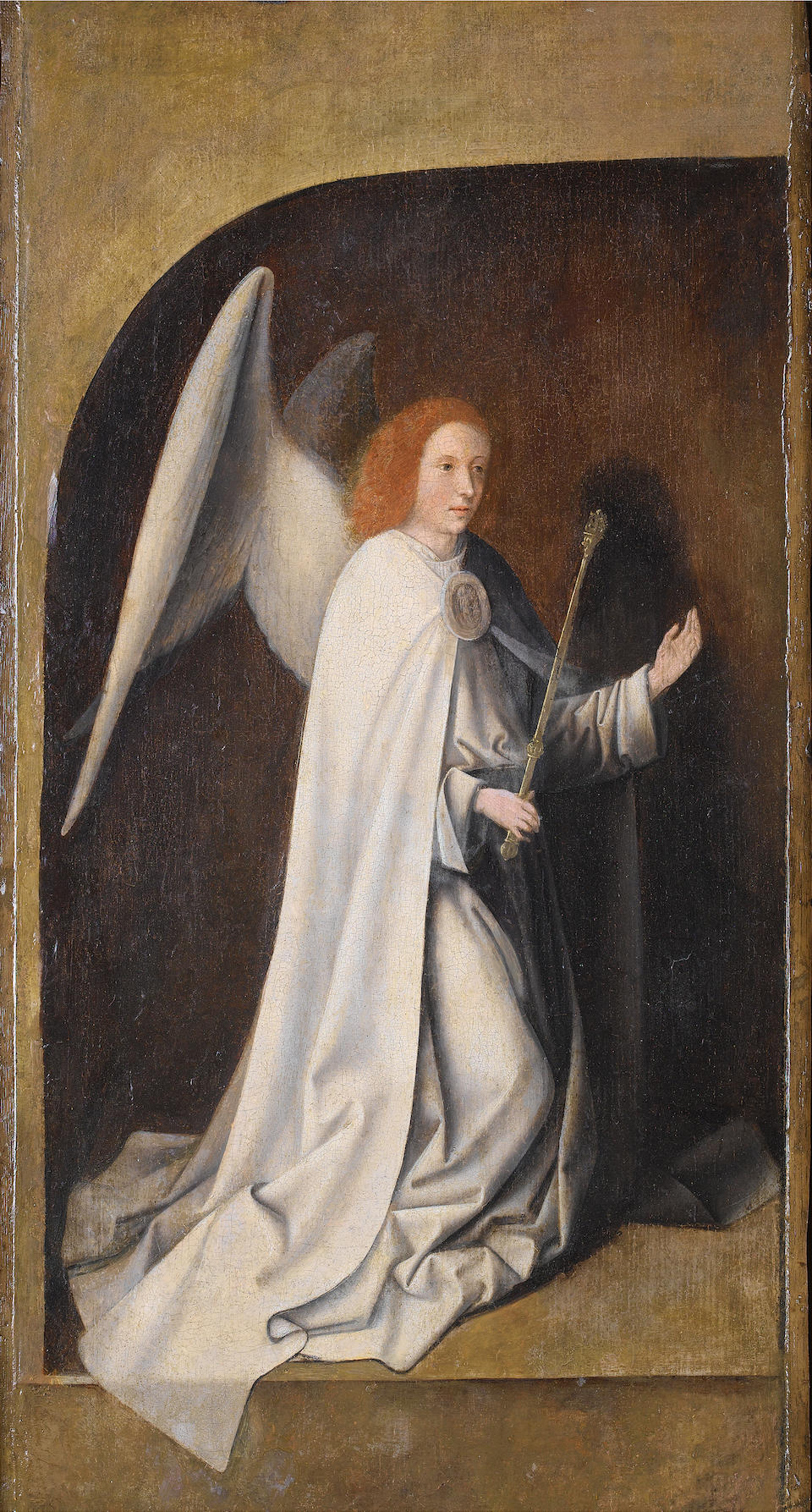 Circle of Jan Provost (Mons circa 1462-1529 Bruges) The Nativity (recto); and The Angel Annunciate (verso)