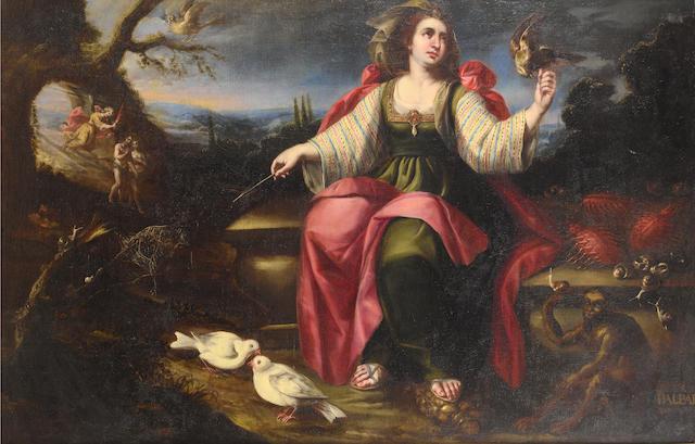 Studio of Juan de Arellano (Santorcaz 1614-1676 Madrid) An allegory of the Sense of Touch
