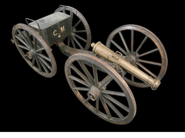 A Fine And Rare French Field Gun And Limber