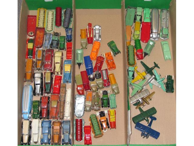 Tootsietoys a large collection of assorted cars and commercial vehicles qty