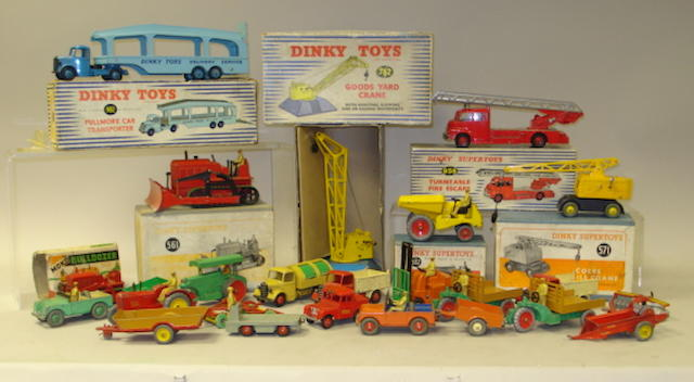 Dinky Supertoys, Road Making equipment and Farm lot