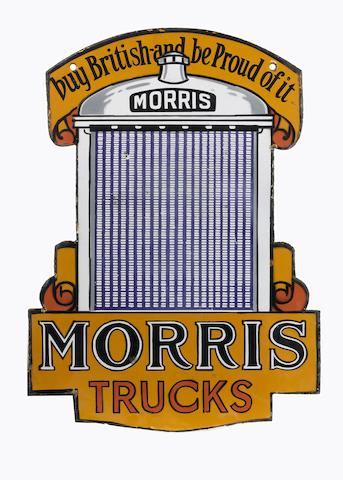 A Morris Trucks enamel sign, 1930s,