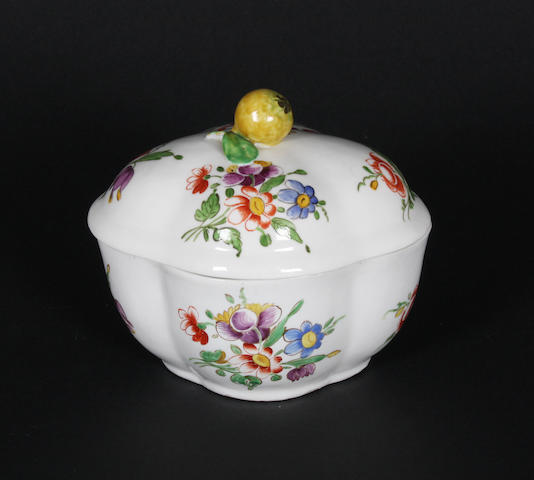 A Doccia sugar bowl and cover Circa 1760-70.
