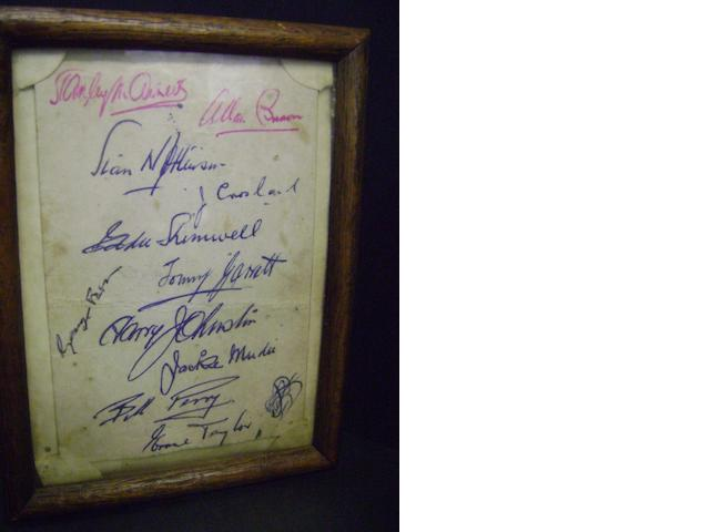 Blackpool autographs including 1953 F.A. Cup winners