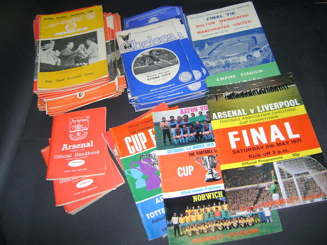 A collection of football programmes