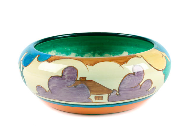 A Clarice Cliff Bizarre Fantasque 'Autumn' fruit bowl