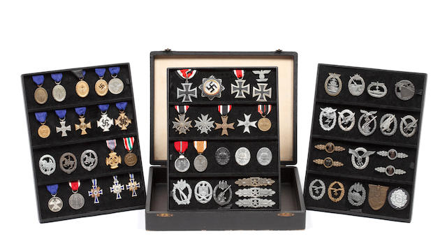 A Third Reich Period Badge And Award Maker's Sample Box