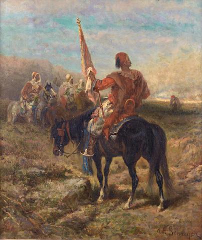 Adolf Schreyer (German, 1828-1899) Der Standartenträger