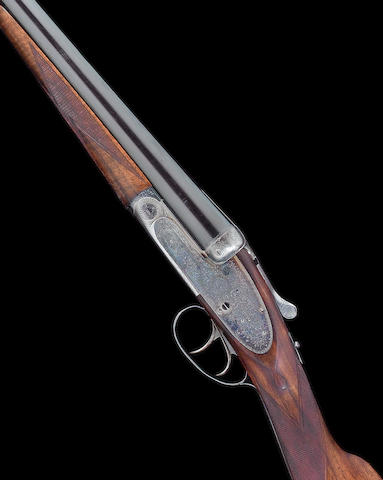 A 12-bore (2¾in) self-opening sidelock ejector gun by J. Purdey & Sons, no. 28012/2 In its leather case with accessories