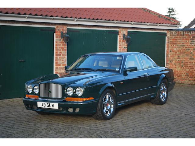 One owner, 33,000 miles from new,1997 Bentley Continental T Coupé  Chassis no. ZCBZU23C2VCH53473