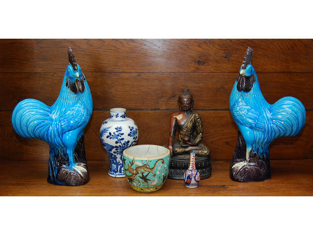 A group of Oriental ceramics and works of art