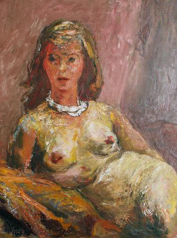 Henryk Gotlib (Polish, 1890-1966) Nude