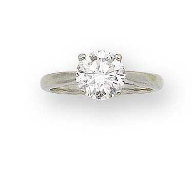 A diamond single-stone ring, by David Morris