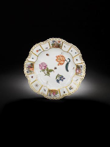 A rare Meissen plate circa 1735-40