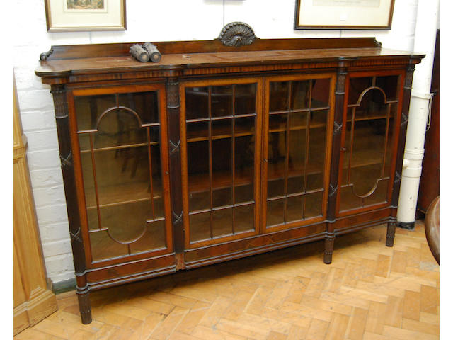 An Edwardian mahogany and inlaid display cabinet