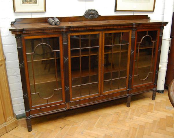 An Edwardian mahogany and inlaid display cabinet