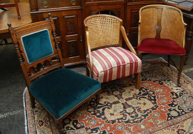 A group of four chairs