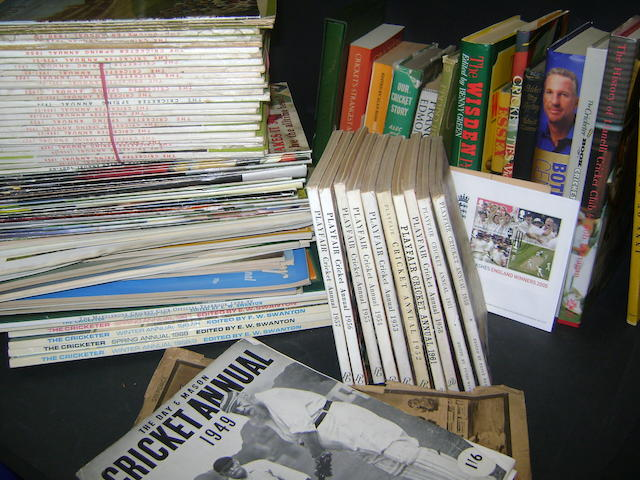 A large collection of cricket publications